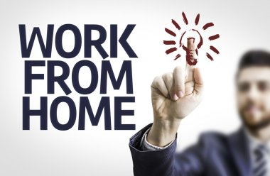Board with text: Work From Home