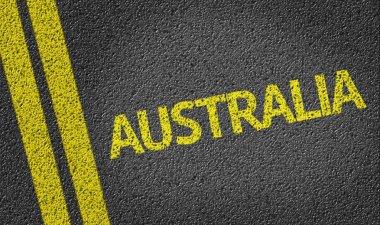 Australia written on road