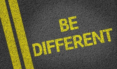 Be Different written on road