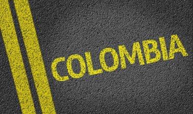 Colombia written on road