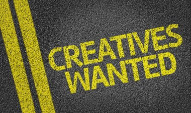 Creatives Wanted written on road