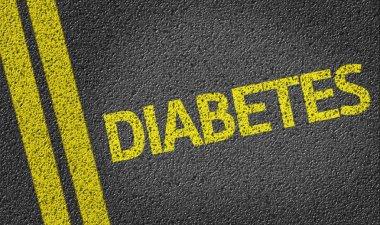 Diabetes written on road