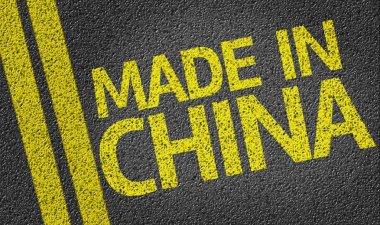 Made in China written on the road