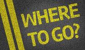 Fotografia Dove andare? scritti sulla strada