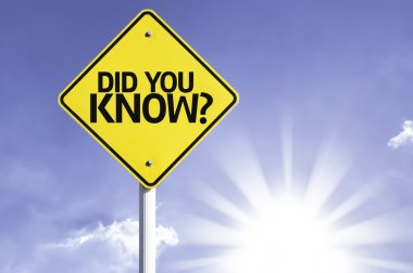 Did you Know? road sign