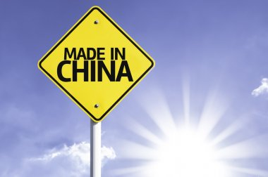 Made in China road sign