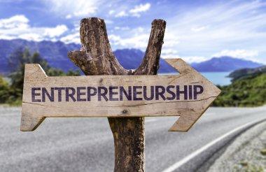 Entrepreneurship  wooden sign