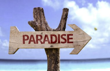 Paradise wooden sign