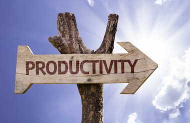 Productivity wooden sign