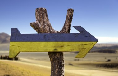 Ukraine wooden sign