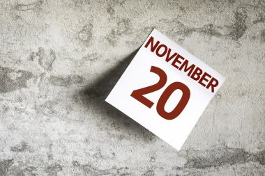November 20 on Paper Note