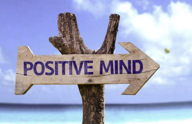 Positive Mind wooden sign
