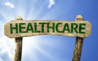 Healthcare wooden sign