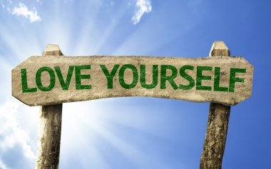 Love Yourself wooden sign