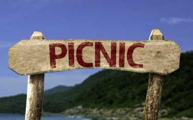 Picnic wooden sign