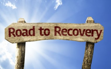 Road to Recovery wooden sign