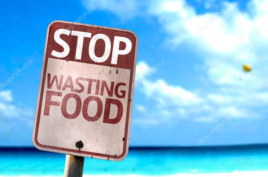 Stop Wasting Food sign