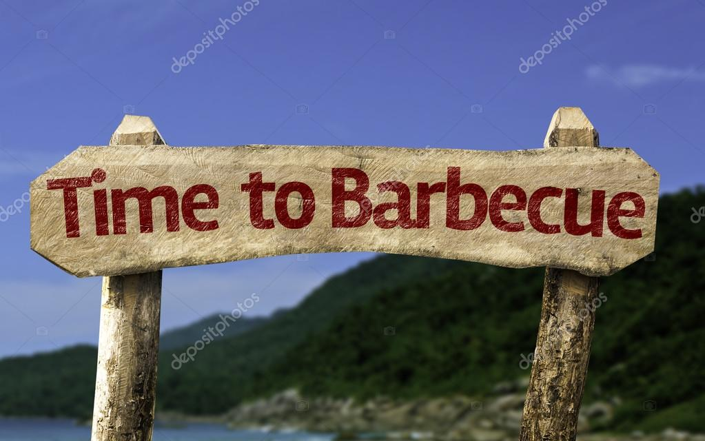 Time to Barbecue wooden sign