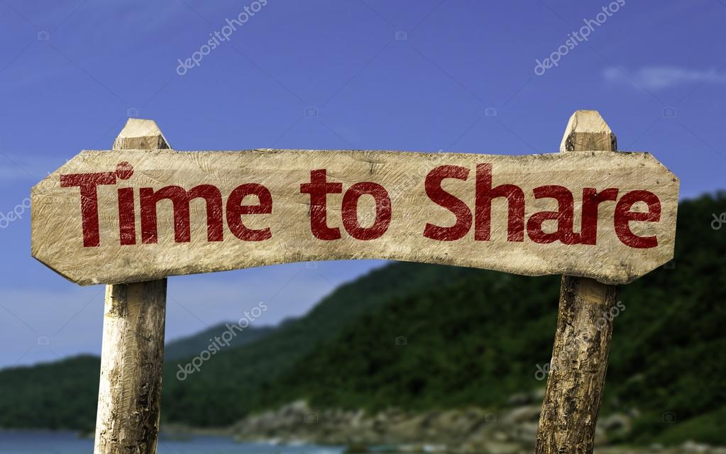 Time to Share wooden sign
