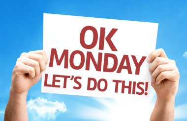 Ok Monday Let's Do This! card