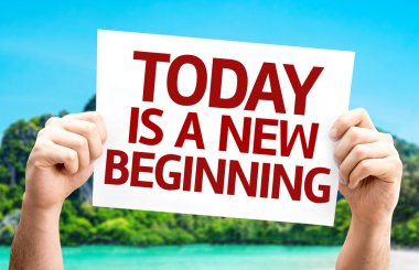 Today is a New Beginning card