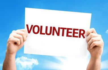 Volunteer.Text on card