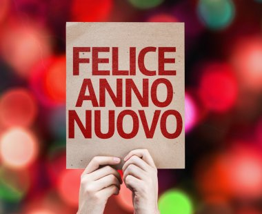 Happy New Year (in Italian) card
