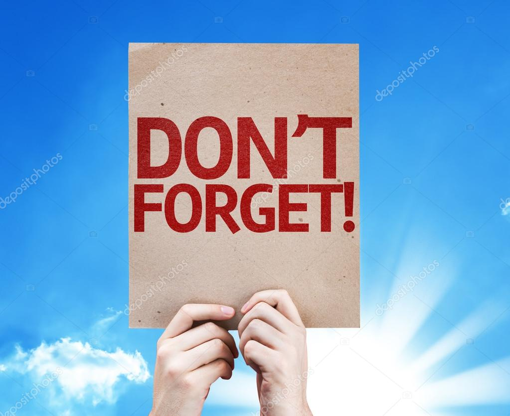 Don't Forget! card