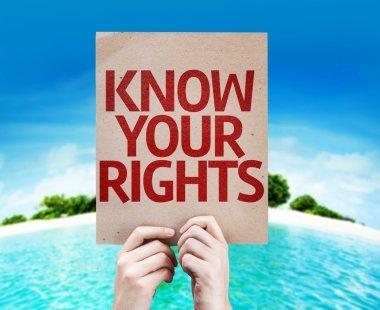 """Картина, постер, плакат, фотообои """"знайте свою карту прав"""", артикул 63170073"""
