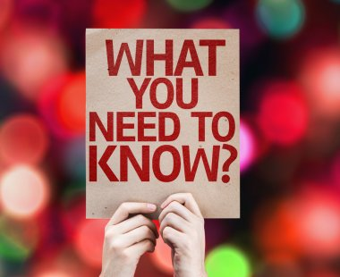 What You Need to Know? card