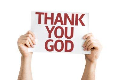 Thank You God card