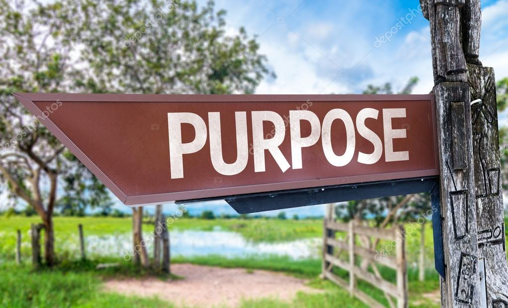 Purpose wooden sign