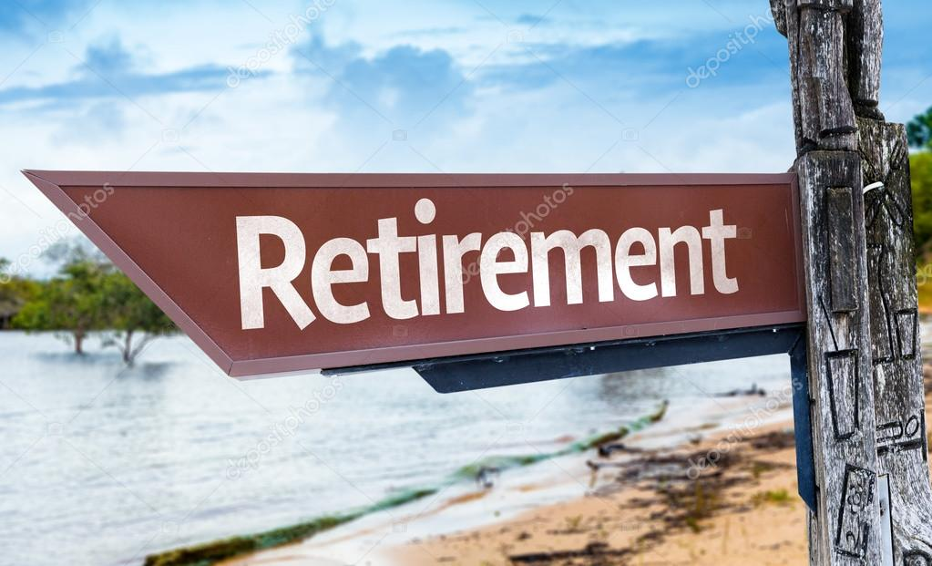 Retirement wooden sign