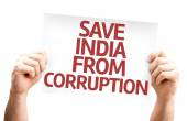 Fotografie Save India From Corruption card