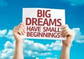 Fotografie Velké sny mají malé začátky kartu