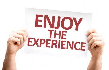 Enjoy the Experience card
