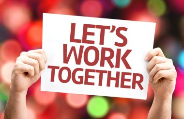Let's Work Together card