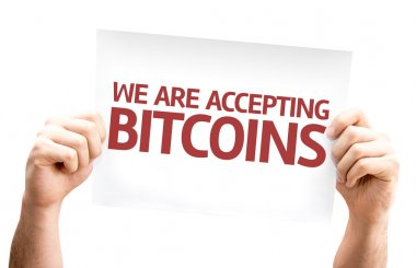 We Are Accepting Bitcoins card