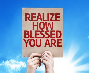 Realize How Blessed You Are card