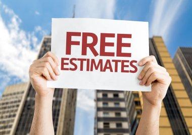 Free Estimates card