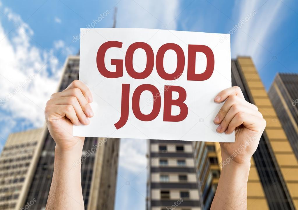 Good Job card