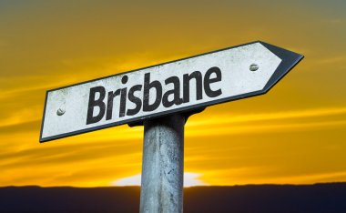 Text:Brisbane on sign