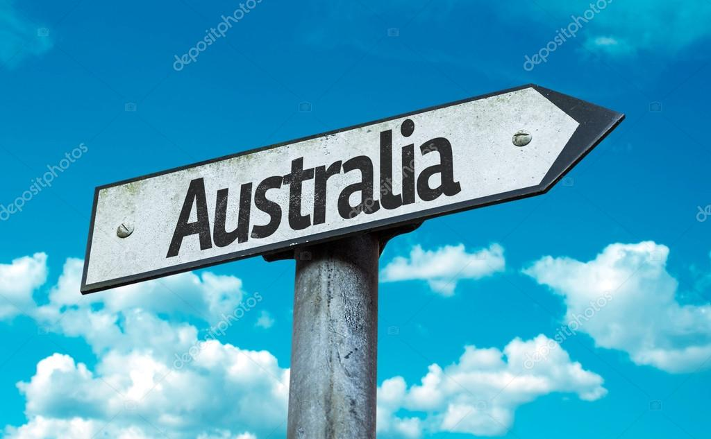 Text:Australia on sign