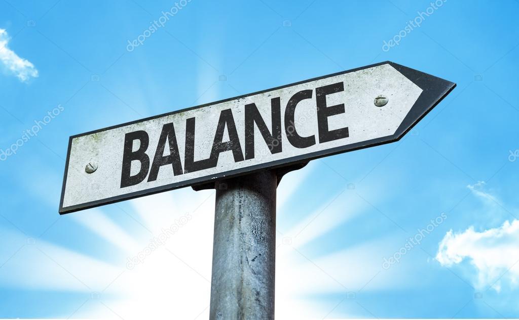 Text:Balance  on sign