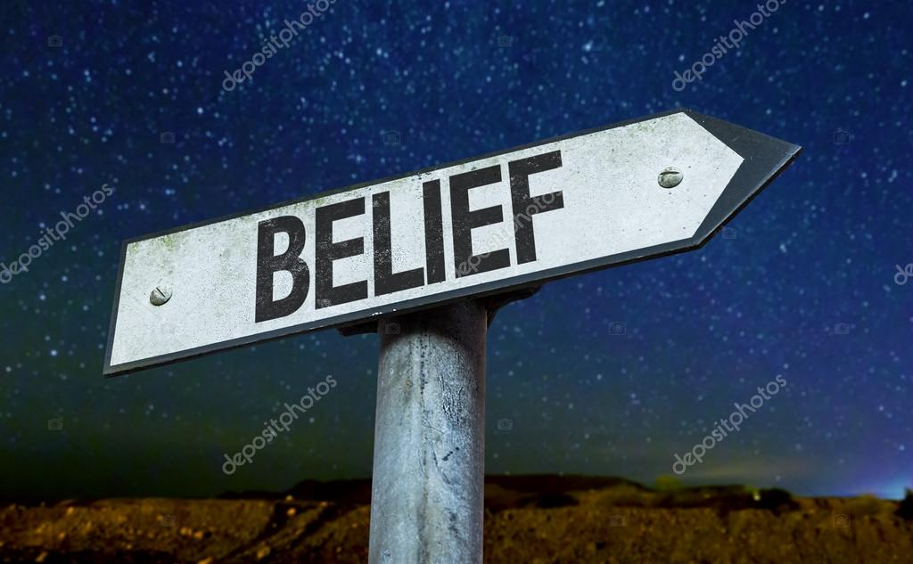 Text:Belief  on sign