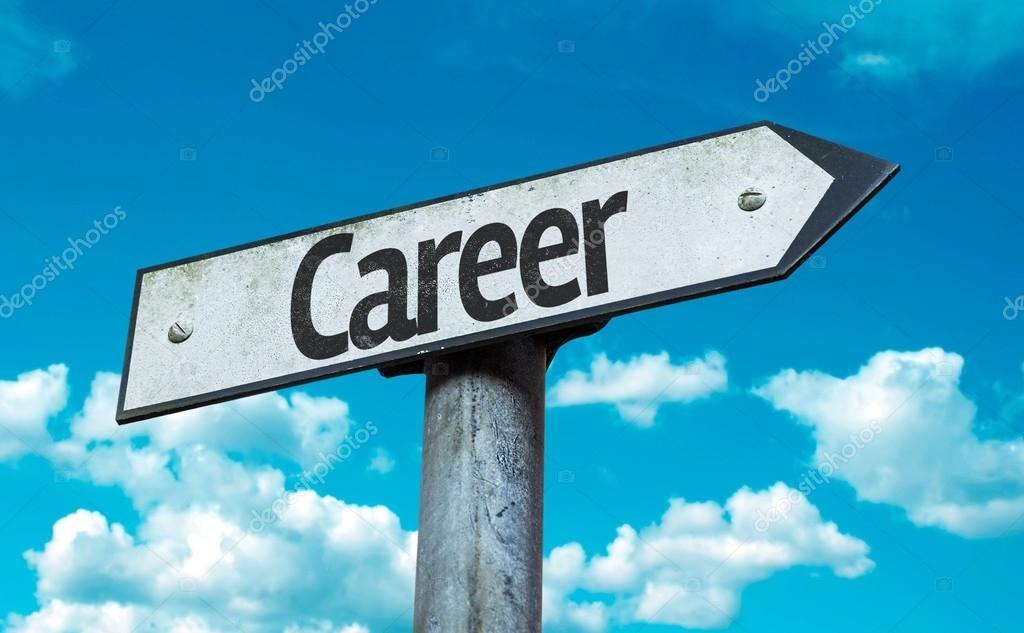 Text:Career   on sign
