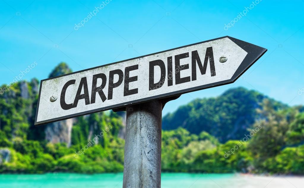 Carpe Diem sign