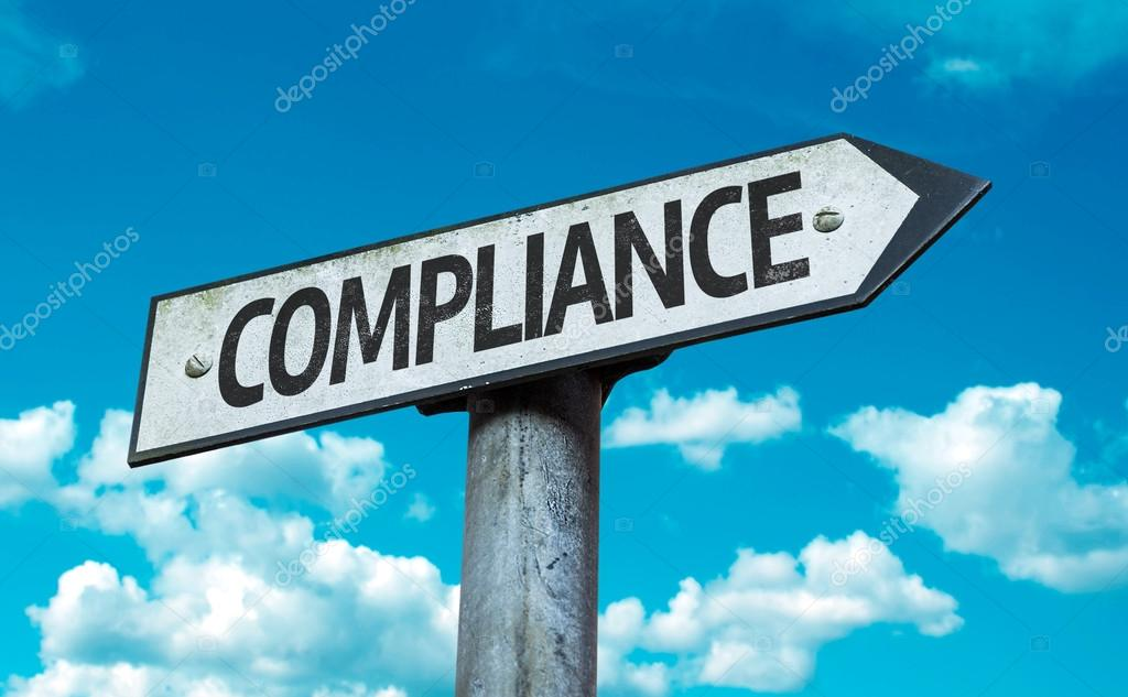 Text:Compliance on sign
