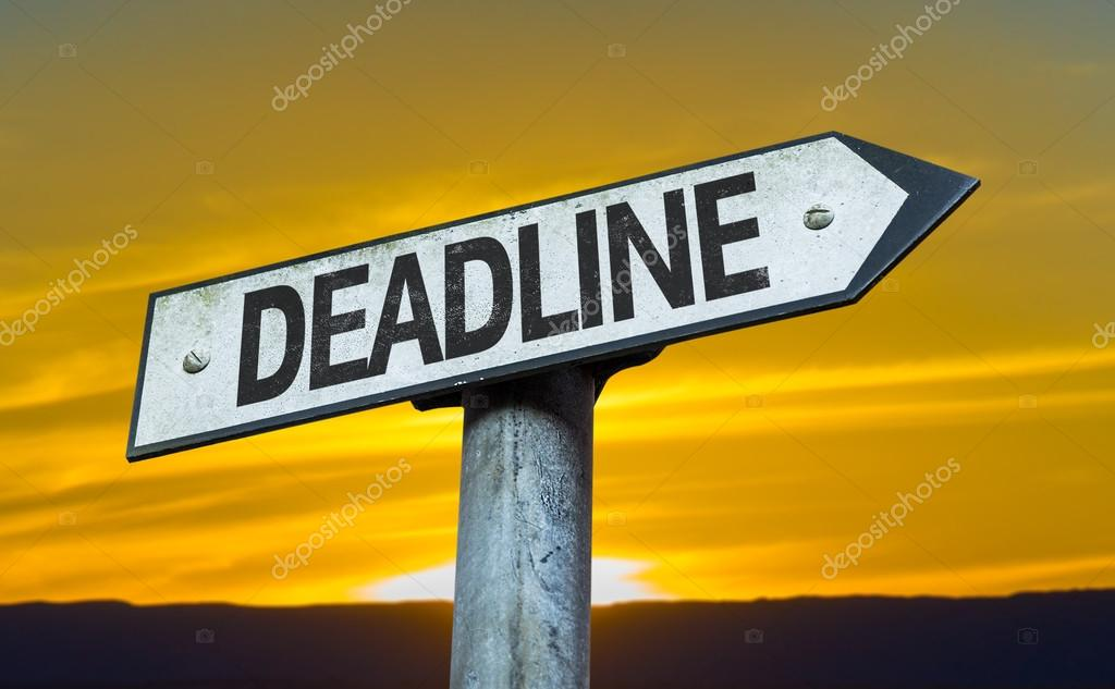 Text:Deadline   on sign
