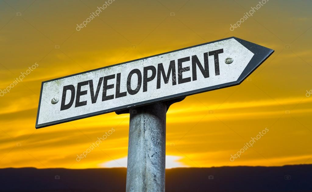 Text:Development   on sign